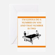 billiards Greeting Cards