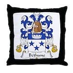 Bethune Family Crest Throw Pillow