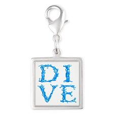 DIVE Silver Square Charm