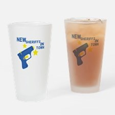 New Sheriffs In Town Drinking Glass