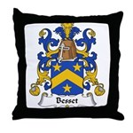 Besset Family Crest Throw Pillow