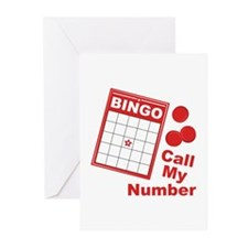 Call My Number Greeting Cards