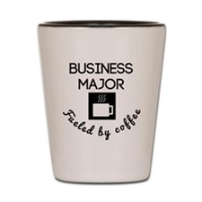 Business Major Fueled By Coffee Shot Glass