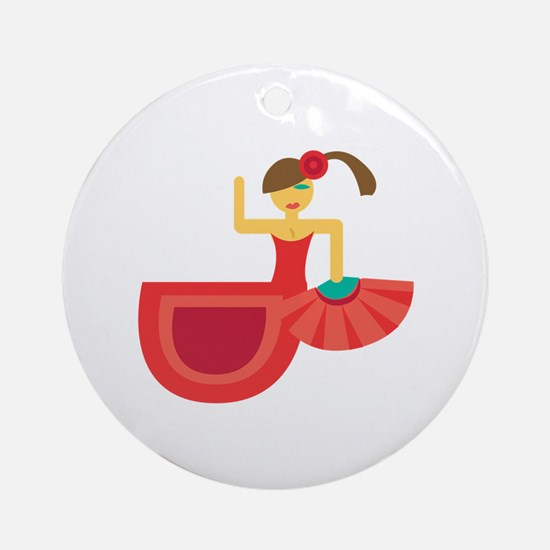 Spanish Dancer Ornament (Round)