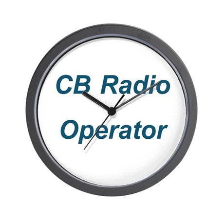 CB Radio Operator Wall Clock