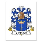 Berthoud Family Crest  Small Poster