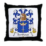 Berthoud Family Crest  Throw Pillow