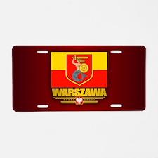 Warszawa Aluminum License Plate