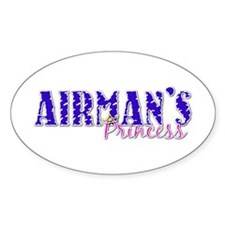 Airman's Princess With Crown Oval Decal