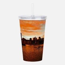 BROOKLYN BRIDGE MEMORI Acrylic Double-wall Tumbler