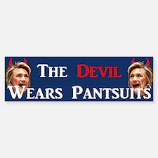 The Devil Wears Pantsuits Bumper Bumper Bumper Sticker