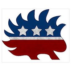 Libertarian Porcupine Poster