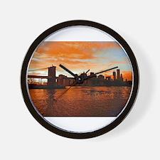 BROOKLYN BRIDGE MEMORIES Wall Clock