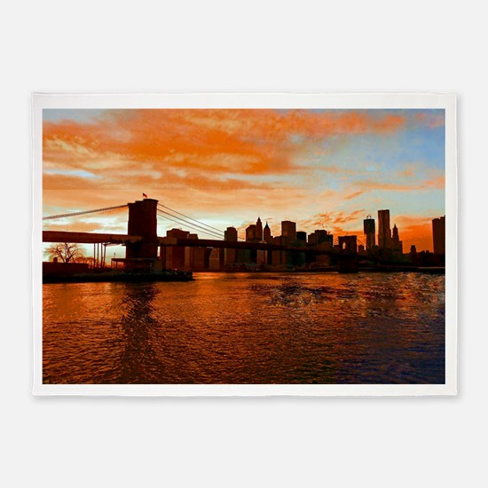 BROOKLYN BRIDGE MEMORIES 5'x7'Area Rug