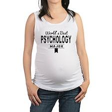 Worlds Best Psychology Major Maternity Tank Top