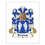 Bertaud Family Crest Small Poster
