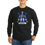 Bertaud Family Crest Long Sleeve Dark T-Shirt