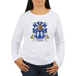 Bertaud Family Crest Women's Long Sleeve T-Shirt