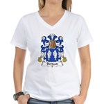 Bertaud Family Crest Women's V-Neck T-Shirt