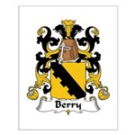 Berry Family Crest Small Poster