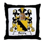 Berry Family Crest Throw Pillow