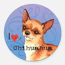 Chihuahua Round Car Magnet