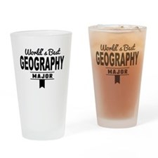 Worlds Best Geography Major Drinking Glass