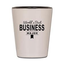 Worlds Best Business Major Shot Glass
