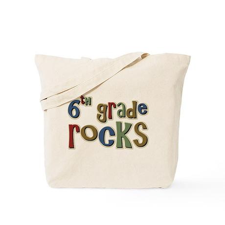 6th Grade Rocks Sixth School Tote Bag
