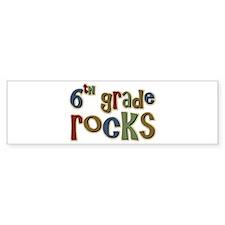 6th Grade Rocks Sixth School Bumper Bumper Sticker