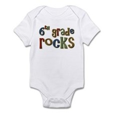 6th Grade Rocks Sixth School Infant Bodysuit