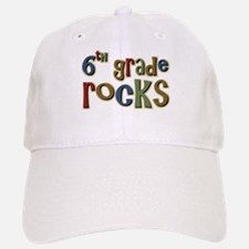 6th Grade Rocks Sixth School Baseball Baseball Cap