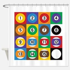 Pop Art Pool Balls Shower Curtain