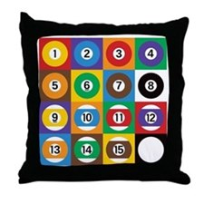 Pop Art Pool Balls Throw Pillow