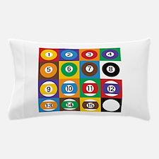 Pop Art Pool Balls Pillow Case