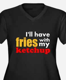 Fries With Ketchup Plus Size T-Shirt