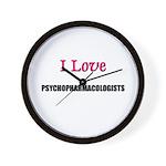 I Love PSYCHOPHARMACOLOGISTS Wall Clock