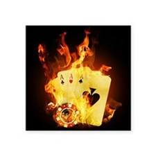 Burning Poker Cards Sticker