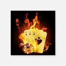 Burning Poker Cards Sticker