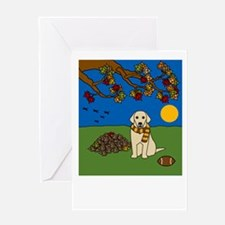 Fall Yellow Lab Greeting Card