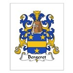 Bergeret Family Crest Small Poster