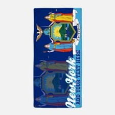 Personalized New York State Flag Beach Towel