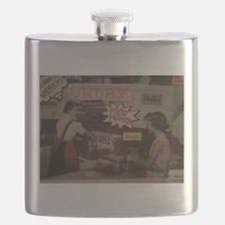 Funny Food fight Flask
