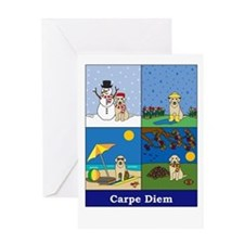 Yellow Lab Carpe Diem Greeting Card