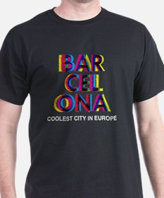 Barcelona Glitch Psychedelic Coolest  T-Shirt