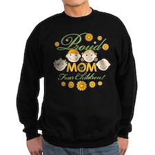 Proud Mom of 4 Sweatshirt