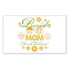 Proud Mom of 4 Rectangle Sticker 10 pk)