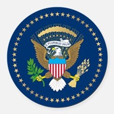 Presidential Seal Round Car Magnet