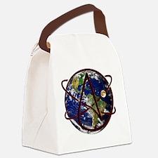 Unique Atheist symbol Canvas Lunch Bag