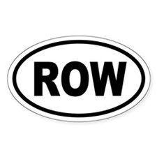 Basic Row Oval Decal